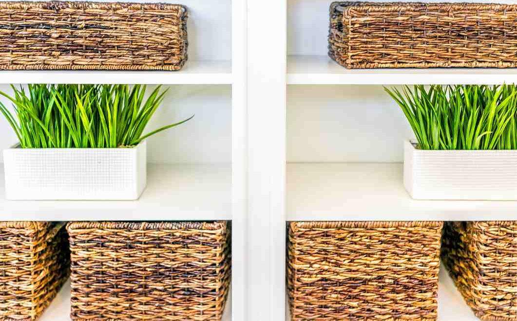 organize with storage bins