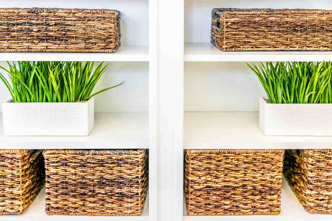 organize with storage bins